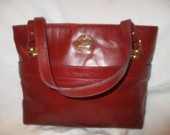 Etienne Aigner leather satchel/shoulder bag