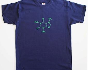 Caffeine Molecule Funny Geek Mens Loose Fit Cotton T-Shirt