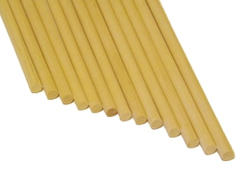 "10 ct Birch Wood Dowel Rods 1/4"" x 12"" for Wood Crafts"