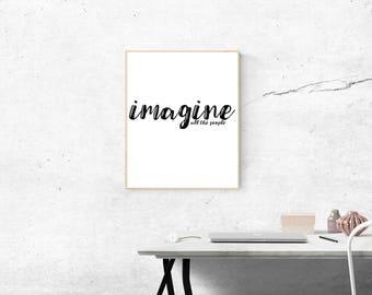 Imagine, John Lennon, Imagine Print, Imagine Poster, Imagine Digital Download