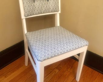 Painted Chair- Blue & White