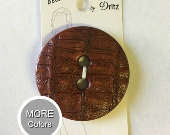 Belle Buttons By Dritz Large 53mm ( 1 5/8 inches) BEAUTIFUL Brown, Black, Dark Brown, Purple | Loomahat