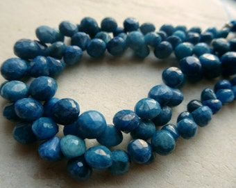 22 pcs,5 to 6 mm Natural Rare Neon Apatite Faceted Onion 8x1/2 inch strand-AA+