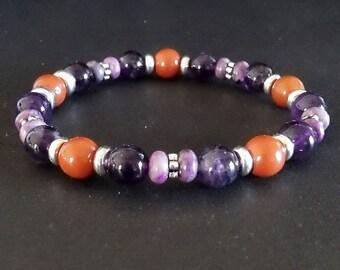Amethyst Natural Gemstone Bracelet