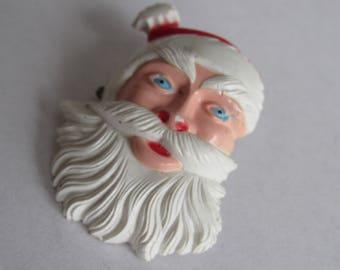 Vintage Fun 1950s Santa Christmas  Brooch Pin