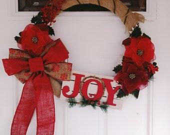 Christmas Joy Wreath