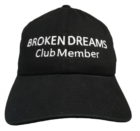 Broken Dreams Club Member - Polo Style Ball Cap (Black with White Stitching)
