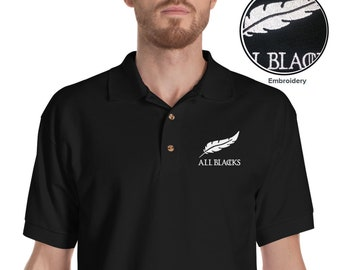 All Blacks Polo /  Night's Watch T- shirt / Rugby Polo / Game of Thrones / Sports / Free Shipping worldwide.