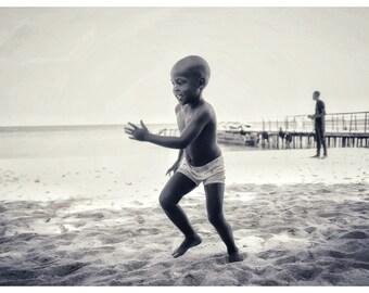 Boy at the beach, photography print, wall art, framed photographs, beach,
