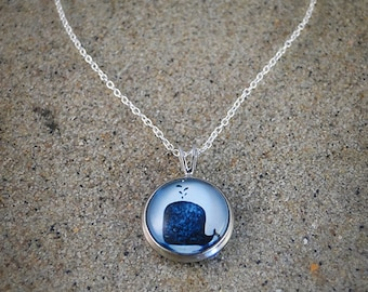"""Blue whale sterling silver necklace """"Whale"""""""