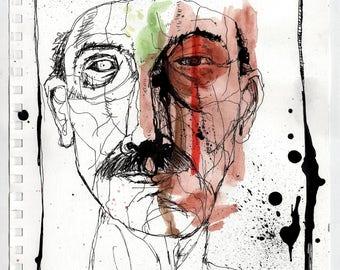 Fringe - Original Mixed Media Illustration