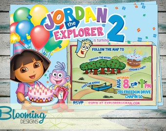 Dora the Explorer Birthday Invitation