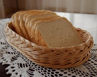 Wicker bread basket / tray / platter