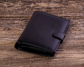 Leather wallet for men Leather coin purse  Leather billfold wallet Leather organizer Business card wallet Credit card wallet Bifold wallet