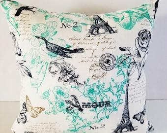 Paris pillows/Decorative pillows/throw pillows/Eiffel Tower pillows/Amour pillows/pillow sets/French pillows/Mother's Day gift/gifts for Mom