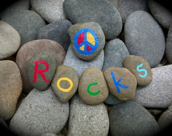 Peace Rocks Original Art Print