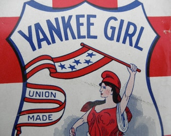 Antique Tobacco Pouch Yankee Girl Scotten Dillon Co Re Purpose Collectible