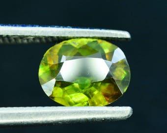 1.05 cts Rare Full Fire Multi Color Natural Sphene Titanite Gemstone from Pakistan - 05*04*01 mm
