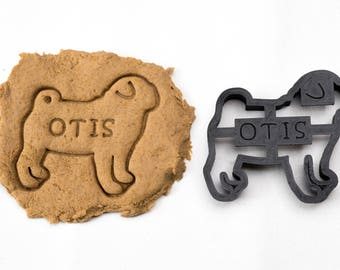 Pug Cookie Cutter Custom Treat Personalized Pet