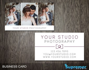 Photography Business Card Template - Business Card for Photographers Photoshop Templates PSD - BC004