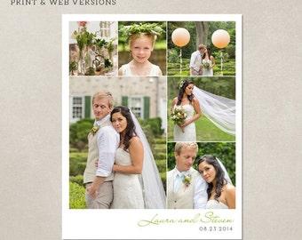 Collage print & Blog board 16x20 inches - Wedding Storyboard