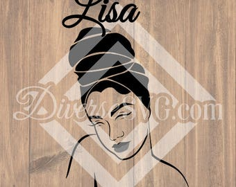 Lisa Black Girl SVG