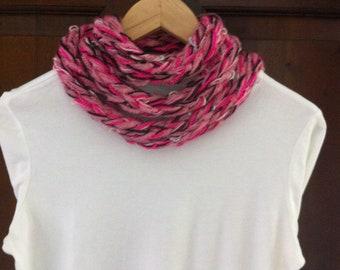 Handmade fuchsia scar,women tee scarf, accessory