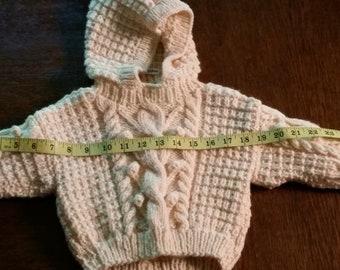 Aran Baby Sweater Handknit