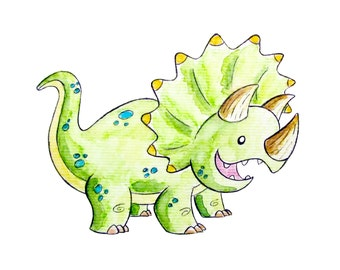 Triceratops Monster 8x10 Print