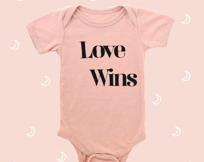 Featured listing image: LOVE WINS Baby Bodysuit - Pink