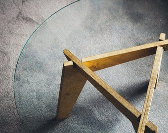 Glass Coffee Table   Legs Only