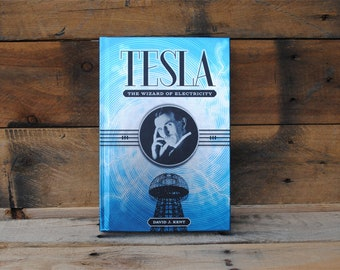 Book Safe - Tesla The Wizard of Electricity - Blue Hollow Book Safe