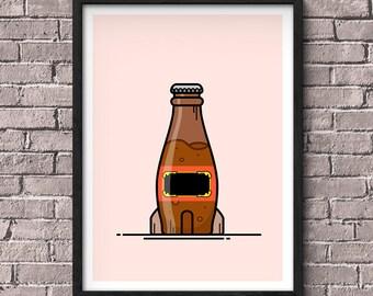 Mini Kühlschrank Nuka Cola : Fallout nuka cola poster collection bundle 3 für 2 gaming