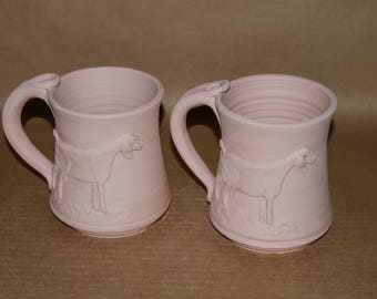 Glazed To Order 18 ounce Nubian Dairy Goat Mugs