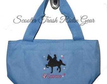 Free Shipping - Personalized Saddlebred Horse Lunch Bag - More Colors - monogrammed - NEW