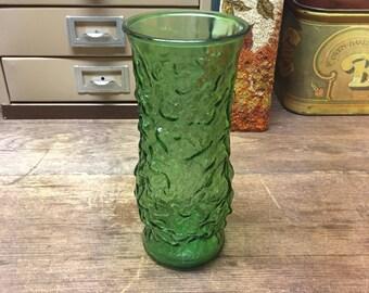 Vintage Vase EO Brody Green crinkle texture