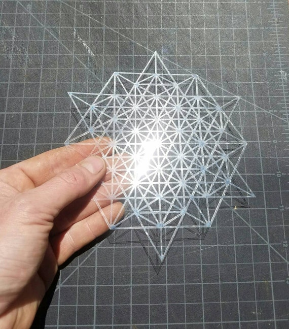 Mini 64 Tetrahedron Grid Stencil - Sacred Geometry