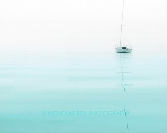 sailboat photography, sailboats, sailboat print, beach house decor, lake house decor, lake house art, nautical photography, aqua, tranquil