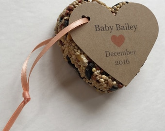 15 Baby Shower Bird Seed Favors - Baby shower favors - Personalized bird seed favors