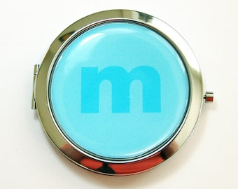 Custom compact mirror, personalized mirror, monogram, monogrammed gifts, bridesmaid gift, customizable, compact mirror, gift for her (3435)