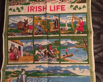 Vintage irish life tea towel
