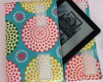 Padded Kindle case, Kindle case, Kindle cover, Kindle Voyage case, Kindle E-reader case, Gray Kindle case, Flowered Kindle case, Tablet case