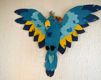 Blue Macaw, a wall decoration