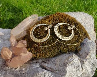 Brass earrings. Brass earrings.
