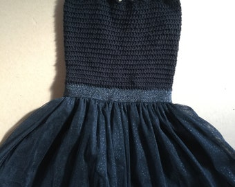 XS/4-5 Girls Black Tutu Dress