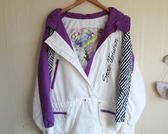Vintage ski jacket, 90s winter jacket, ski jacket women size M-L, ski suit, Snow Jacket, mens ski jacket, retro ski jacket, snowboard jacket