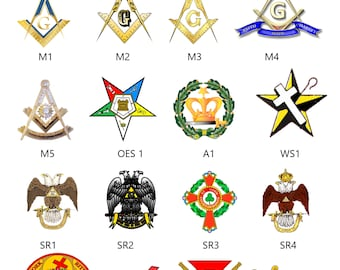 Masonic Christmas cards 4 style to choose from.