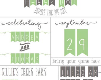 Bridal Party Field Day Invitation // Field Day Invitation