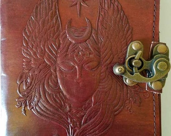 Leather Embossed Moon Goddess Journal