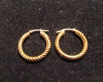 Milor Italy gold over 925 sterling silver hoop earrings